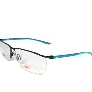 Nike Men's Eyeglasses 7918AF Gunmetal rectangle